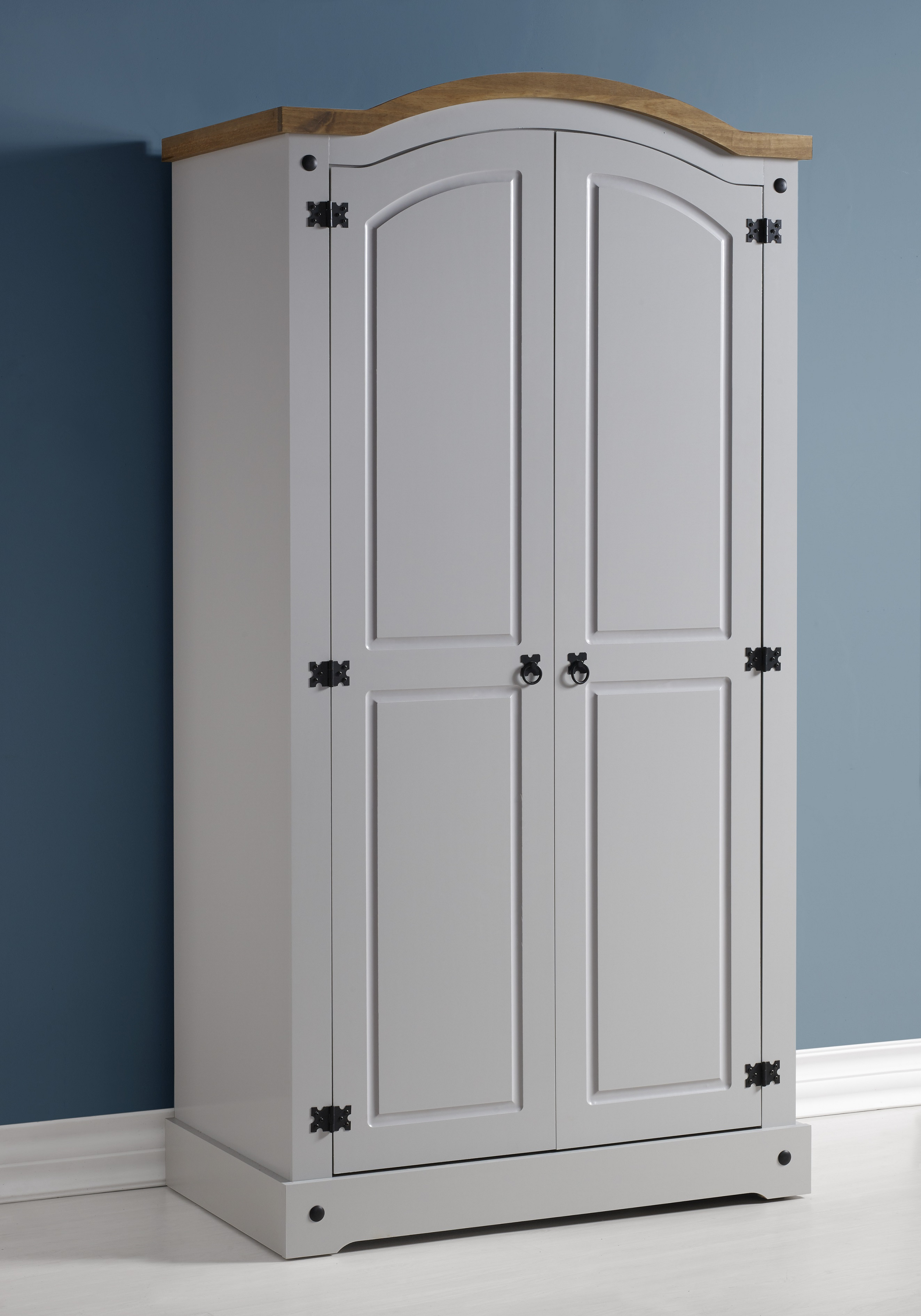 home homehome fronted shop bow wardrobe grey sweet